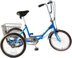 Worksman Port-o-Trike Three Speed Adult Tricycle by Worksman Cycles, Adult Tricycle, Tricycle Bike, Trike Bicycle, Three Wheel Bicycle, 20 Inch Wheels, Car Racks, Third Wheel, Bike Style, Sports
