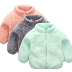 Toddler Kid Baby Winter Clothes Girl Boy Long Sleeve Zipper Girls Children's Clothes Solid Velvet Coat Warm Clothing Outwear : Winter Outfits For Girls, Kids Outfits Girls, Baby Boy Outfits, Newborn Winter Clothes, Cute Baby Clothes, Newborn Clothes For Boys, Winter Clothes For Kids, Winter Kids, Baby Snowsuit