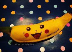 Recadinhos carinhosos na lancheira! ❤️ Banana Divertida - Pokemon - Pikachu