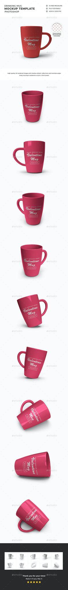 Drinking Mug Mockup Template by DendySign | GraphicRiver