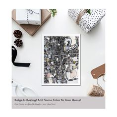 """@Carlandcartography posted to Instagram: """"Omaha NE"""" A Vertical Giclee Print. This is an abstract print showing a map of the city of Omaha. It shows most of the city, which is West of the Missouri River - shown on the far right of the image. Perfect for home or office, this print invokes a sophisticated, calm energy and will be a focal point for anyone who enters your space. Save 25% Off When you spend $100+ Now- Dec 1. Tap the link in my bio for more info -> @carlandcartography #designer…"""