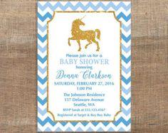 Invitación de ducha baby Unicorn. Rayas blanco y por CrazyLime