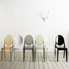 Kartell Victoria Ghost Chairs - love these chairs, so simple