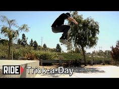 Learn a new trick each and every day from top pros. You'll get step-by-step instructions on how to master every trick in skateboarding! Tune in seven days a week to learn something new.    Today Sean Conover shows you how to do a Half Cab Kickflip