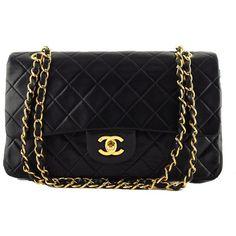 Chanel Black Lambskin Medium Classic 2 55 Shoulder Flap Bag