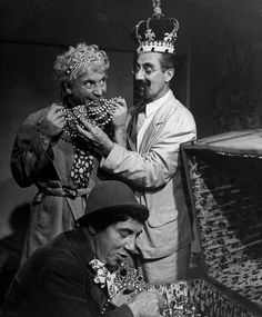 """The true Kings of Comedy. From ""A Night at Casablanca"" 1946. #anightatcasablanca #kingsofcomedy…"""