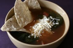 A Year of Slow Cooking: Vegetarian Tortilla Soup Slow Cooker Recipe