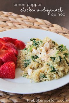 the baker upstairs: lemon pepper chicken and spinach quinoa