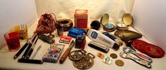 Vintage Junk Drawer Lot Collectibles Barware Ashtray Knife Marbles Horse Brass  | eBay