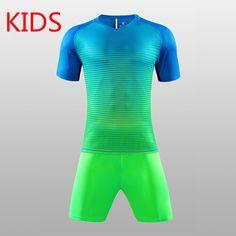 49672c7ac Children Soccer Jersey Set Youth Kids survetement tracksuit football jerseys  2016 2017 training Kits boys child