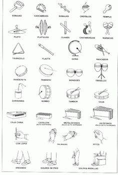 Instrumentos musicales #musicalinstruments #musical #instruments #instrumentos #musicales Music Lessons For Kids, Music For Kids, Preschool Music Activities, Music Drawings, Music Worksheets, Piano Teaching, Elementary Music, Music Therapy, Music Classroom
