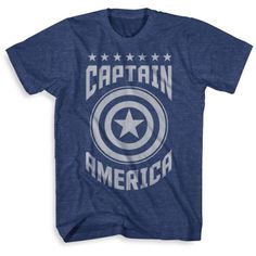 Mad Engine Navy Heather Captain America Mesh Tee - Male ($9.09) ❤ liked on Polyvore featuring men's fashion, men's clothing, men's shirts, men's t-shirts, men and navy heather