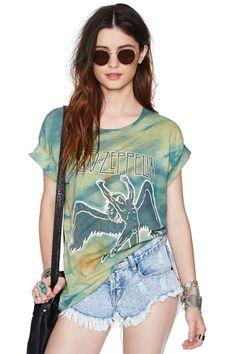 Led Zeppelin Tie Dye Tee #rocktee #vintagetee