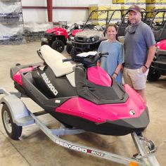 Thanks to Payton and Clint Collins from Livingston AL for getting a 2015 Sea-Doo Spark 3up and a Sea-Doo Move I trailer at Hattiesburg Cycles
