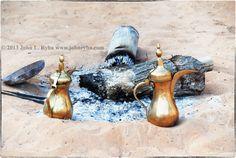 Abu Dhabi Desert; Traditional Arabic Coffee; Coffee Pots; Desert Nomad Coffee; johnryba.com Dubai Beach, Arabic Coffee, Dubai Travel, Dubai Uae, Abu Dhabi, Pipes, Travel Photography, Traditional, Pipes And Bongs