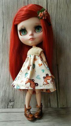 VYPRODÁNO. Dakota ... Doll OOAK Blythe na zakázku podle PommedAmourDolls