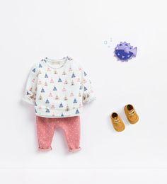 Zara Baby Teepee Sweatshirt, Polka Dot Leggings and leather boots