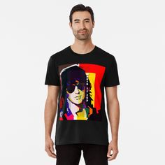 Pop Art Face, My T Shirt, Large Prints, Tshirt Colors, Chiffon Tops, Looks Great, Tees, Shirts, Fitness Models