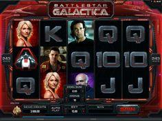 Battlestar Galactica videospilleautomat - Battlestar Galactica er en spilleautomat som renner over av spennende og nyskapende spesialfunksjoner.