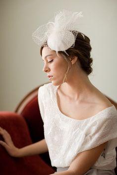 birdcage veil fascinator bridal hat