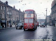 Trolleybuses and Buses serving Tottenham Uk History, London History, London Bus, Old London, North London, East London, Routemaster, Buses And Trains, Double Decker Bus