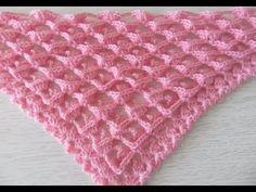 "Узор для шали, бактуса -3 ""D"", вязание крючком,crochet shawl (шаль № 127) Crochet Videos, Crochet Shawl, Hand Knitting, Blanket, Pattern, Clothes, Cape Clothing, Shawl, Long Scarf"