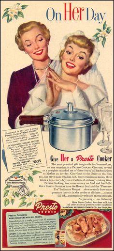 .. Vintage Menu, Vintage Ads, Vintage Kitchen, Cooking Foil, Retro Housewife, Vintage Appliances, Old Advertisements, Retro Ads, Retro Recipes