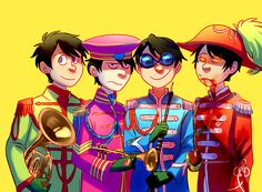 Entre, Bitter, Swag, and One-ler dressed as Srgt. Pepper's. Welcome to my fandom :D  Likes | Tumblr