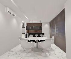 Preto e branco com a lamina de madeira natural Ébano em High Gloss. Florense