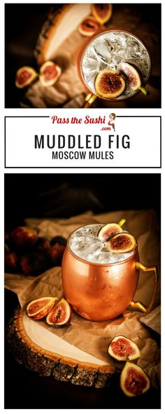 Muddled Fig Moscow Mule   I am OBSESSED with figs! And not wanting any of the…