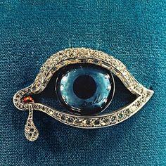 Dali Eye of Time brooch