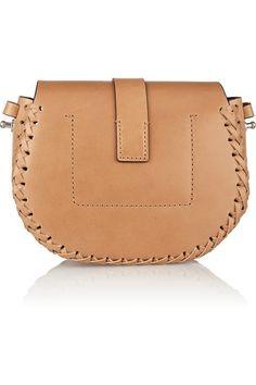 Michael Kors | Claire whipstitched leather shoulder bag | NET-A-PORTER.COM