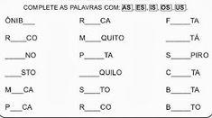 Atividades com vogal + consoante/n/r/s/