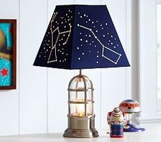 New kids room space theme pottery barn ideas Space Themed Nursery, Nursery Room, Boy Room, Space Theme Bedroom, Nursery Lamps, Themed Rooms, Pottery Barn Kids, Bedroom Themes, Nursery Themes