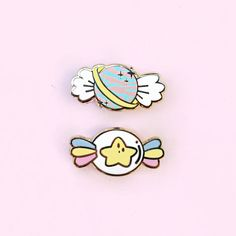 Space Candy Hard Enamel Lapel Pin Set - Planet and Star Sweets - Trick or Treat Halloween - Cute Pastel Fantasy Accessories by ColourfyMe on Etsy https://www.etsy.com/ca/listing/562584445/space-candy-hard-enamel-lapel-pin-set
