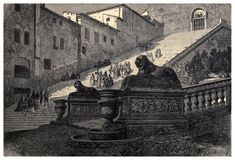 015-Escaleras de la Basilica de Santa Maria en lo alto del… | Flickr Vintage Drawing, Pictures To Draw, A4 Poster, Photo Wall Art, Poster Size Prints, Photo Mugs, 19th Century, Stairs, Mary