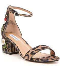 Steve Madden Inca Leopard-Print Velvet Dress Sandals #Dillards