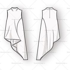 Women's Sleeveless Blouse Fashion Flat Template – Templates for Fashion Fashion Design Jobs, Fashion Design Sketches, Fashion Designers, Clothing Patterns, Dress Patterns, Sewing Patterns, Sewing Ideas, Sewing Clothes, Diy Clothes