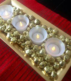 Simple Christmas DIYs :: Printables and Jingle Bell Candle Display