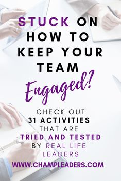 Check out 31 Team Engagement Ideas you can roll out ASAP. Rolling out regular team activities will not only build a great culture for your team but it will also bring your leadership to the next level. Team Activities, Leadership Activities, Leadership Coaching, Leadership Development, Communication Skills, Leadership Qualities, Educational Leadership, Physical Activities, Office Team Building Activities