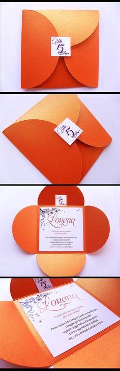 PuntoSur | Gráfica para Eventos: Tarjeta Invitación 15 años - Sobre modelo Flor!