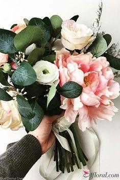 Bridal Bouquet - Spring Bridal Bouquets - Pink Bridal Bouquet