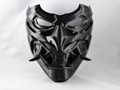 Oni Maske, Mascara Oni, Mask Drawing, Japanese Mask, Airsoft Mask, Cool Masks, Masks Art, Red Hood, Fashion Face Mask
