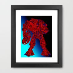 Red Dreadnought  Framed Art Print by seb mcnulty - $32.00