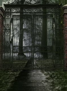 No one knows what lies behind the gates, for no one with enough courage has dared to open them.