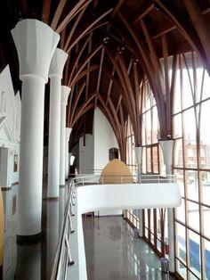 Lendva theatre interior | Makovecz  - #Architecture