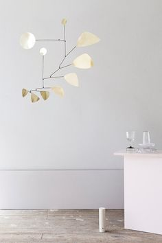 I'm totally smitten with those striking mobiles by German label Lappalainen! Handmade of brass, iron or copper their geometric shapes provide a subtle play of light, now that the days are getting long Handmade Home Decor, Handmade Furniture, Home Furniture, Automotive Furniture, Automotive Decor, Kitchen Furniture, Vintage Furniture, Furniture Design, Cadre Design