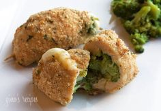 Broccoli and Cheese Stuffed Chicken from skinnytaste