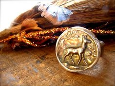 deer ring Whitetail Deer Hunting, Bling Bling, Class Ring, Pretty, Rings, Silver, Vintage, Jewelry, Jewlery