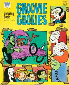 Groovie Goolies Coloring Books: Browse our near-complete guide and print coloring & activity pages! 70s Cartoons, Vintage Cartoons, Old School Cartoons, Classic Cartoons, Vintage Toys, Vintage Stuff, Hanna Barbera, Vintage Coloring Books, My Childhood Memories